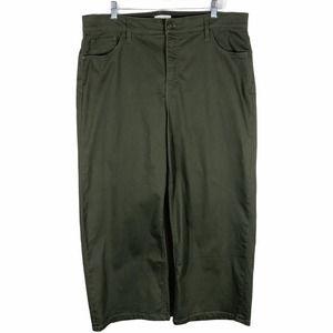 Ava Viv Plus Size 18 Pants Olive Green 330